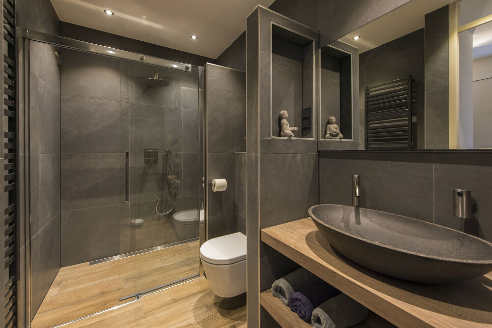 badkamer glazen wand